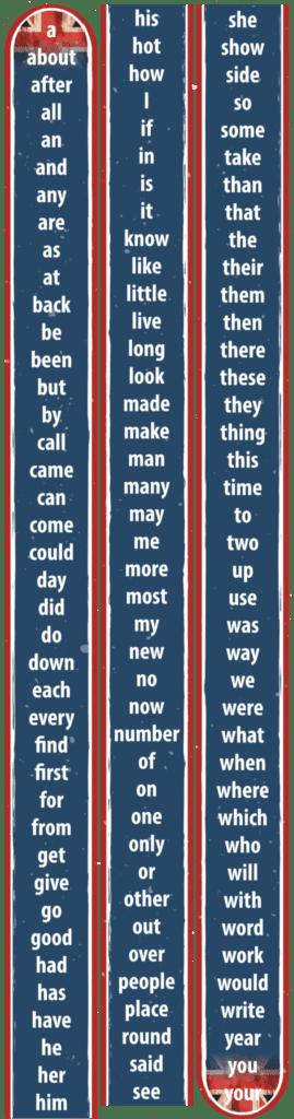 120 engelske ord bane 14700x400 g