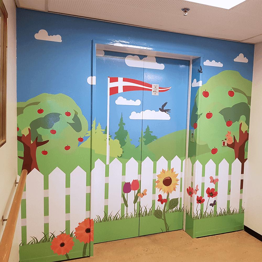 Dørfolie inkl. karme med eget design-28856