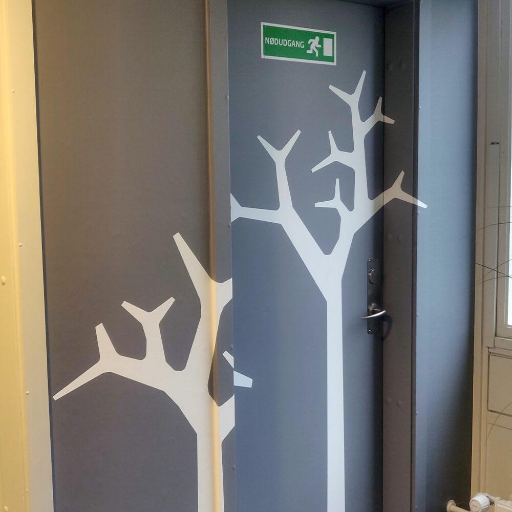 Dørfolie inkl. karme med eget design-0