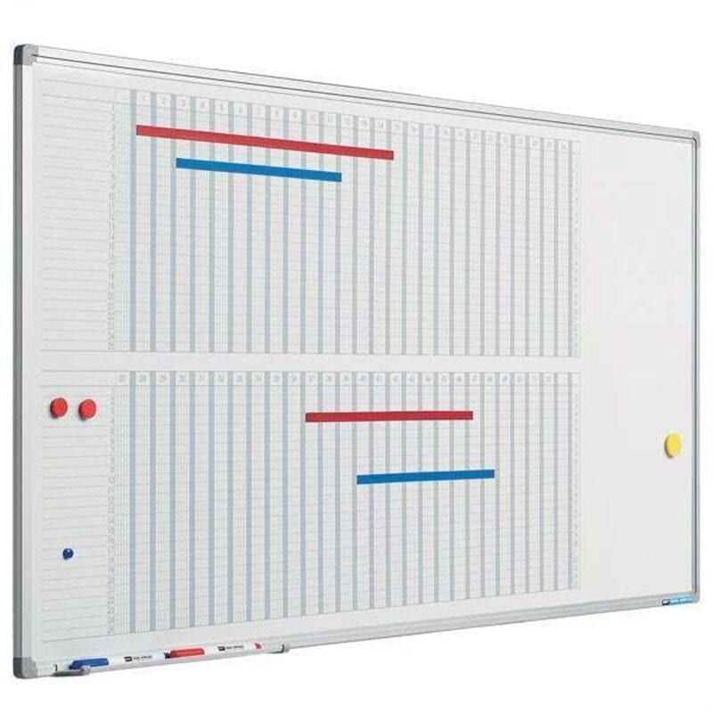 53-ugers planlægningstavle - Grå, 60 x 120 cm-0