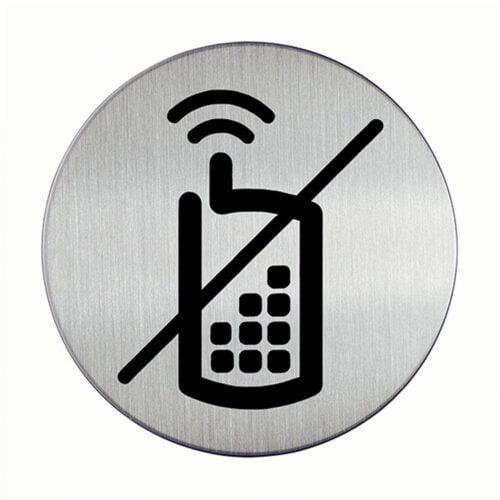 Ingen mobiltelefoner - Rund-0
