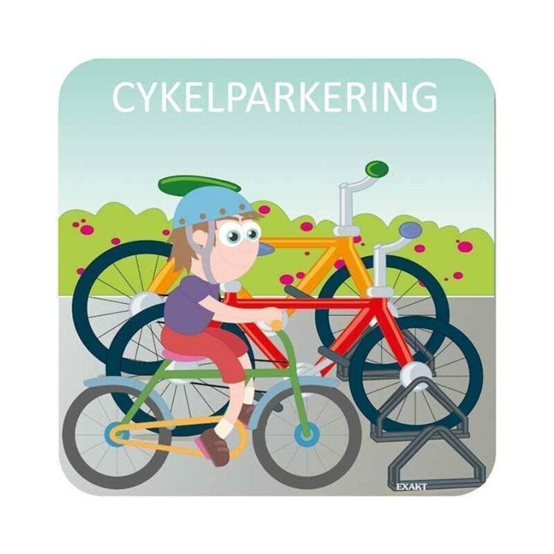 Cykelparkering - 25 x 25 cm-0