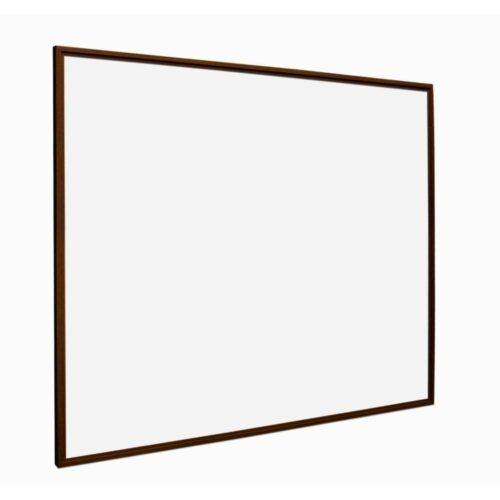 Whiteboard med ramme i trælook - Valnød-0