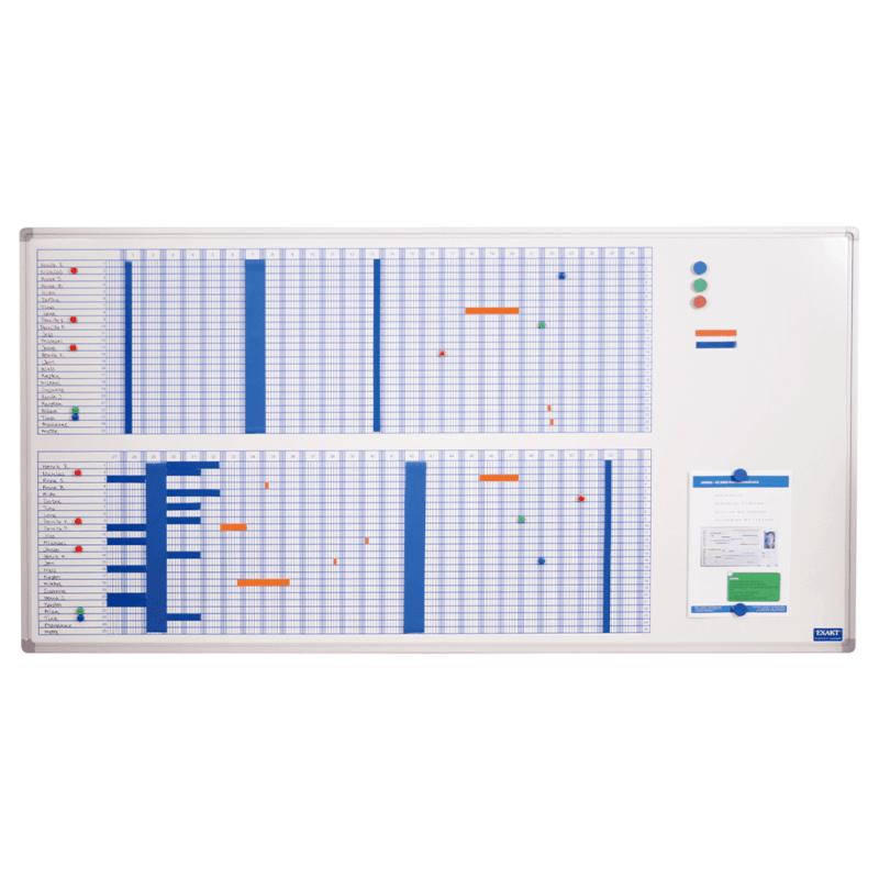 53 ugers planlægningstavle 60x120 cm - blå-0