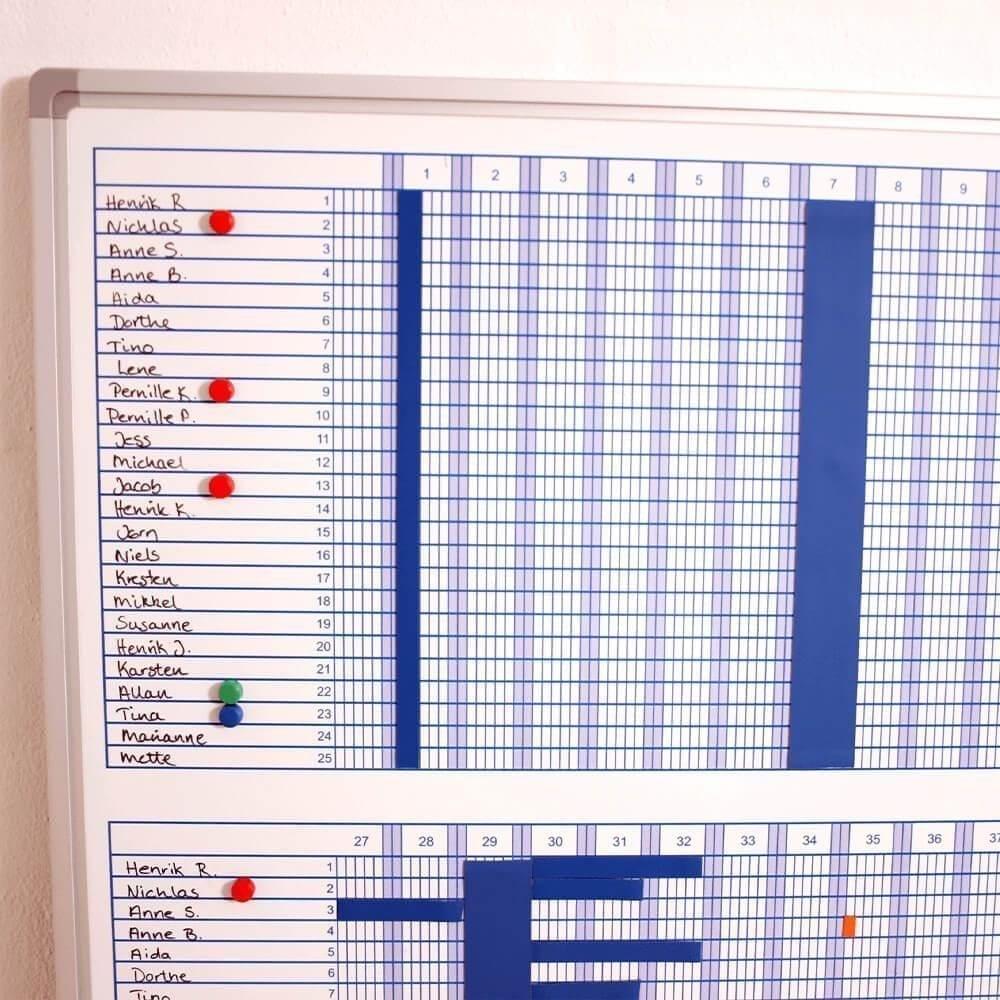 53 ugers planlægningstavle 60x120 cm - blå-28741
