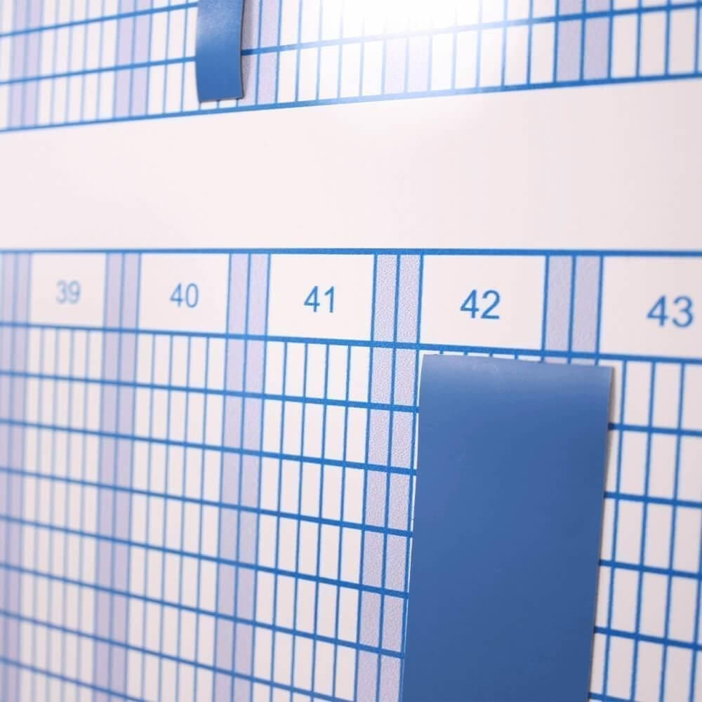 53 ugers planlægningstavle 60x120 cm - blå-28739