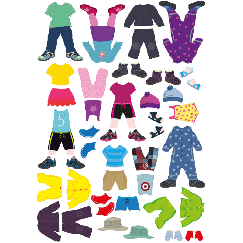 Tøj til påklædningstavle-0