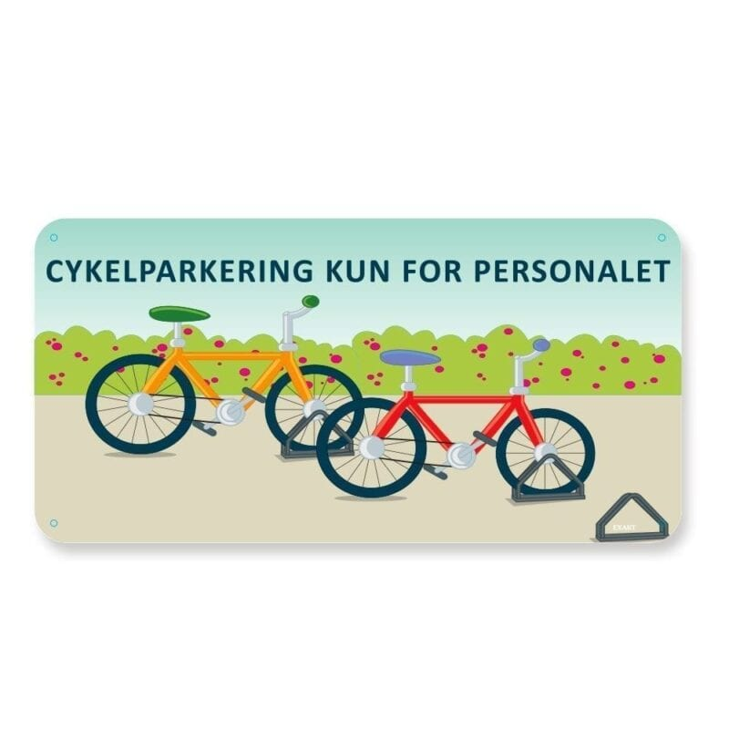 Cykelparkering kun for personale - 25 x 50 cm-0