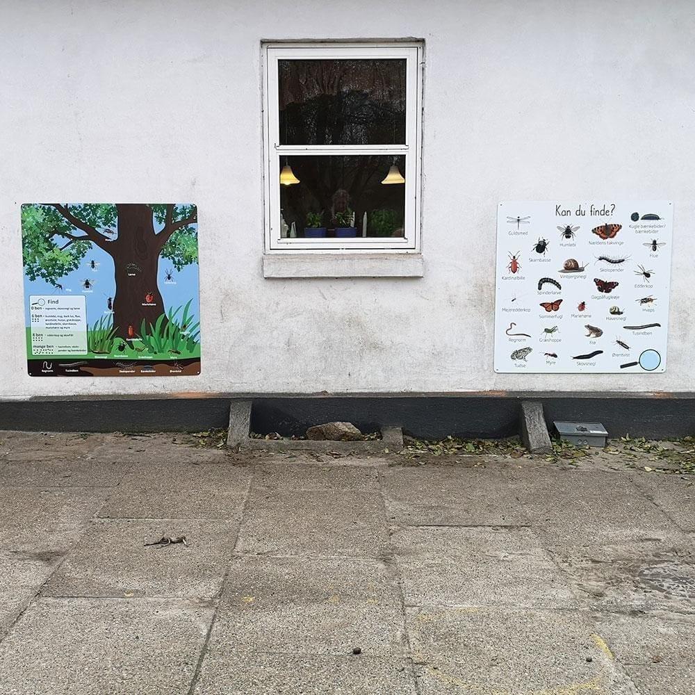 'Krible krable' - Skilteplade, 100 x 100 cm-22339
