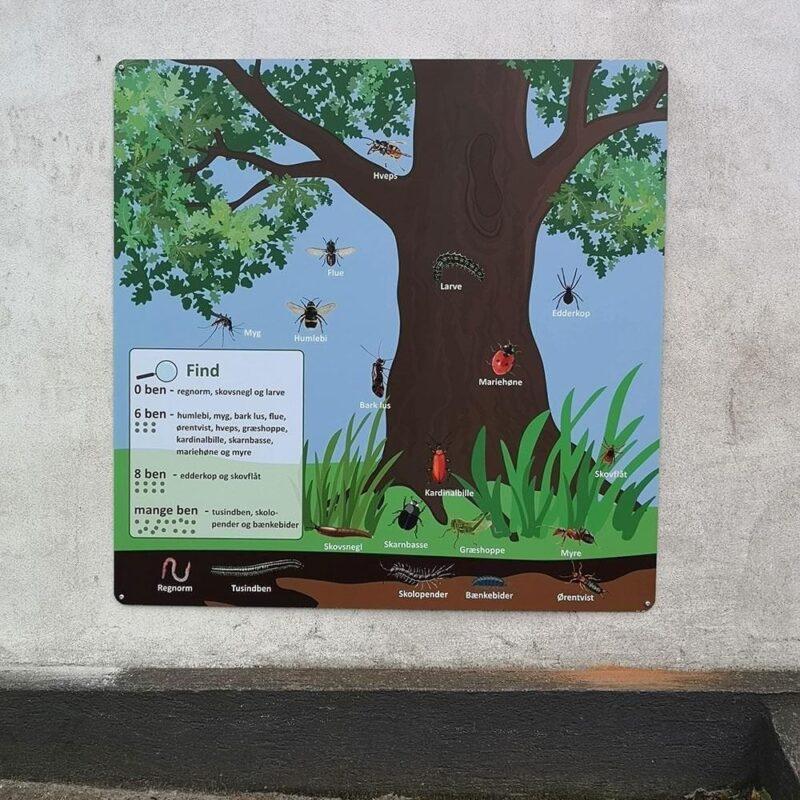 'Krible krable' - Skilteplade, 100 x 100 cm-0