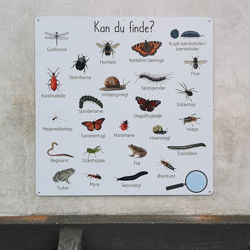 'Kan du finde - 2', 100x100 cm - Læringstavle-22335