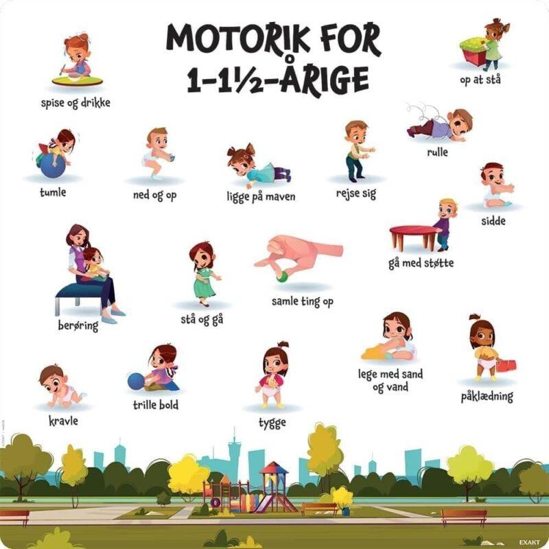 Motorik, 1-1½ år - Læringstavle-0