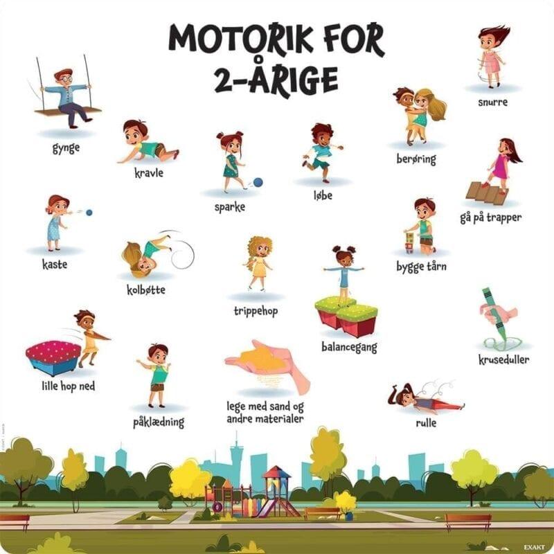 Motorik, 2 år - Læringstavle-0