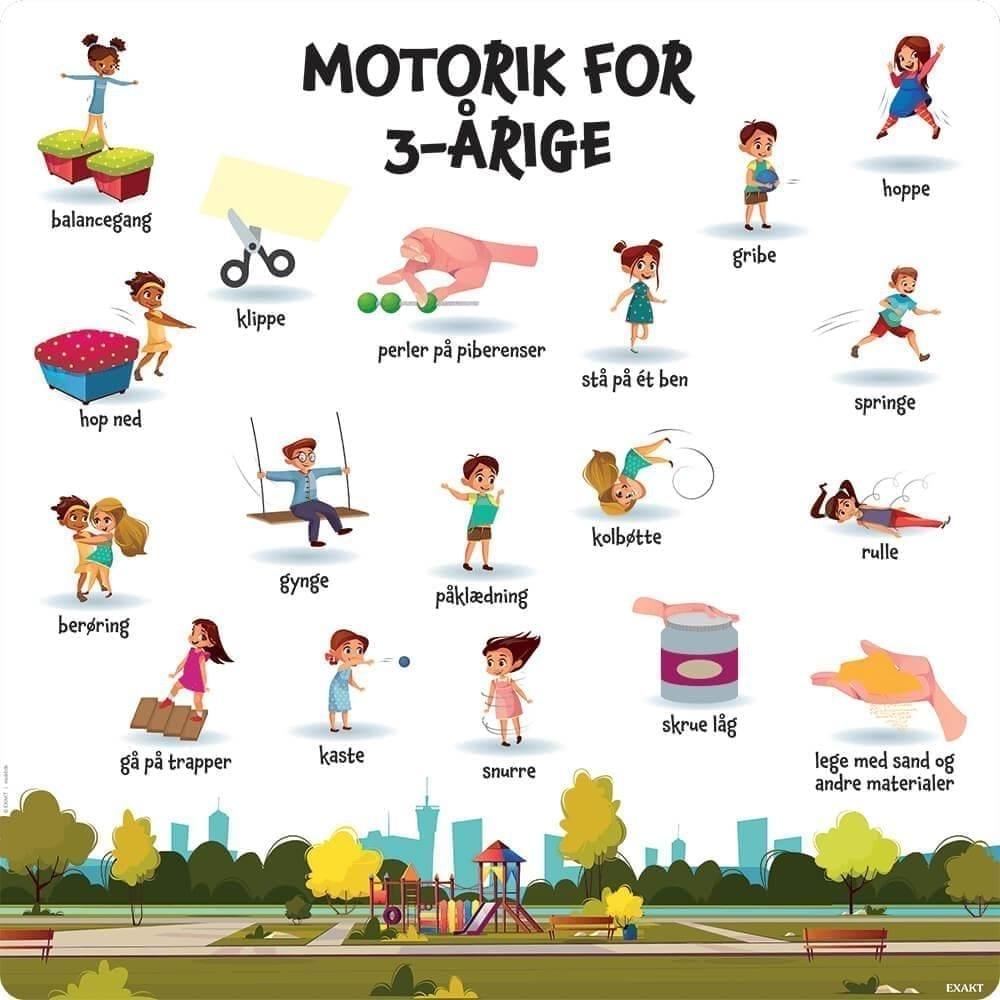 Motorik, 3 år - Læringstavle-0