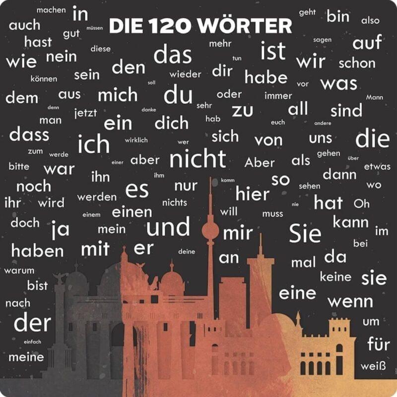 120 tyske ord med illustration - Skilteplade-0