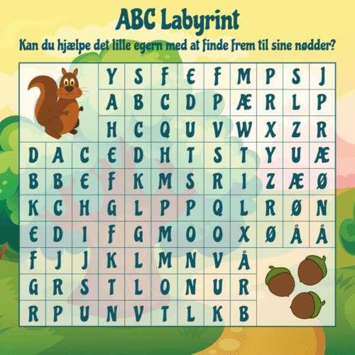 ABC labyrint - Skilteplade-0