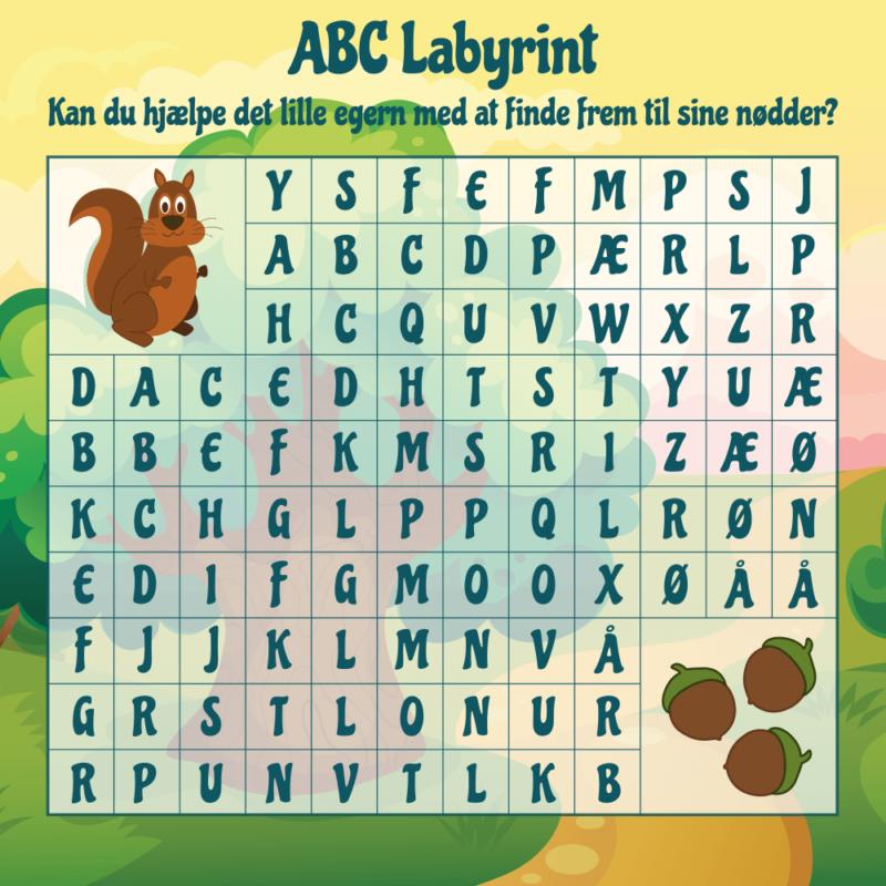 ABC labyrint - Skilteplade-0