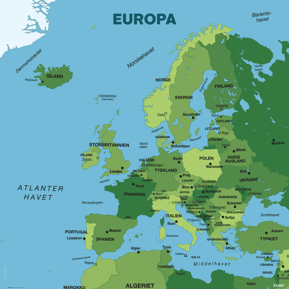 Europakort - Skilteplade-0