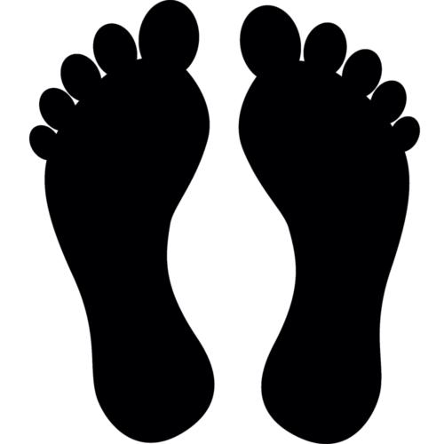 Ensfarvede fødder - Gulvfolie, pakke med 20 stk.-0