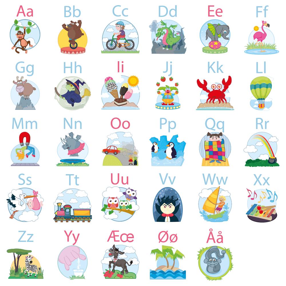 Det sjove alfabet - Vinduesfolie-0