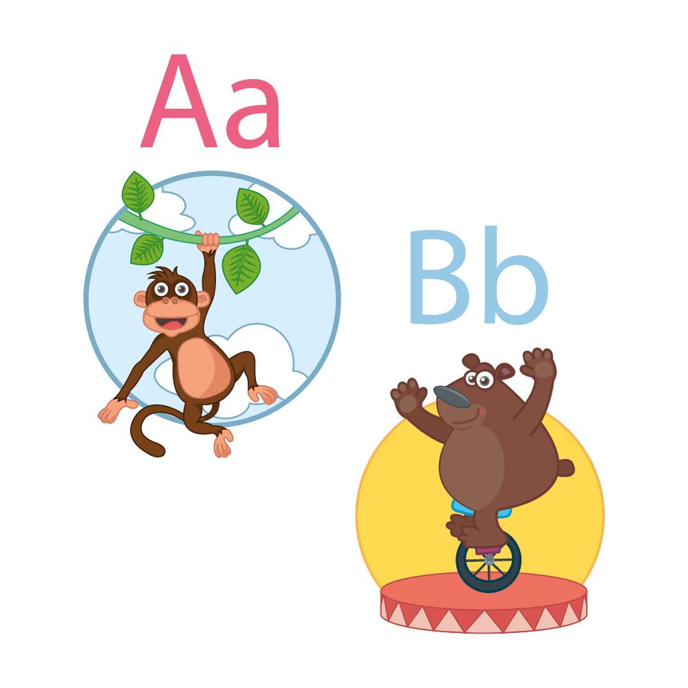 Det sjove alfabet - Vinduesfolie-26911