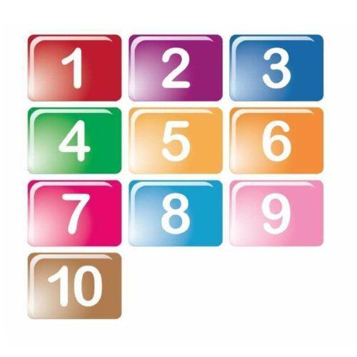 1-10 i firkanter - Gulvfolie-0
