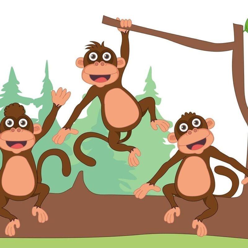 5 aber på en gren - Vinduesfolie-0