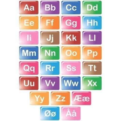 Farvet alfabet - Gulvfolie-0