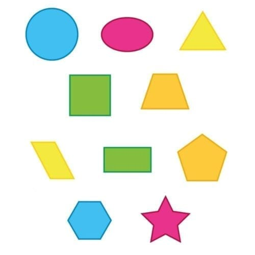 Geometriske former - Gulvfolie-0