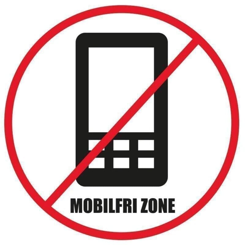 Mobilfri zone - Gulvfolie, pakke med 5 stk.-0