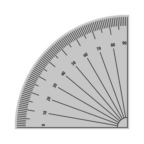 Halv vinkelmåler - Gulvfolie-0