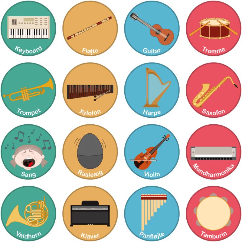 Instrumenter - Gulvfolie, pakke med 16 stk.-29078