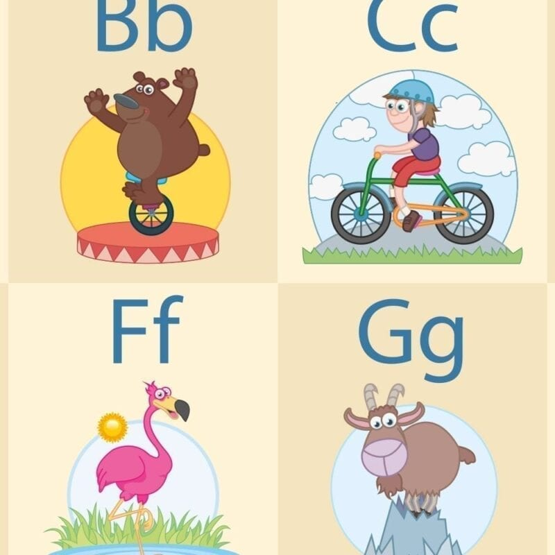 Det sjove alfabet - Dørfolie-21494