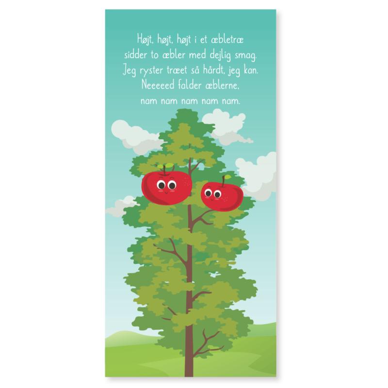 Højt, højt, højt i et æbletræ - Dørfolie, op til 215x100 cm-0