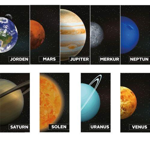 Planeterne på række - Skilteplade-0