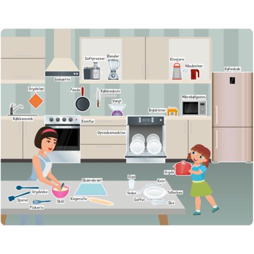 Køkkenredskaber - Skilteplade - 70 x 90 cm-0