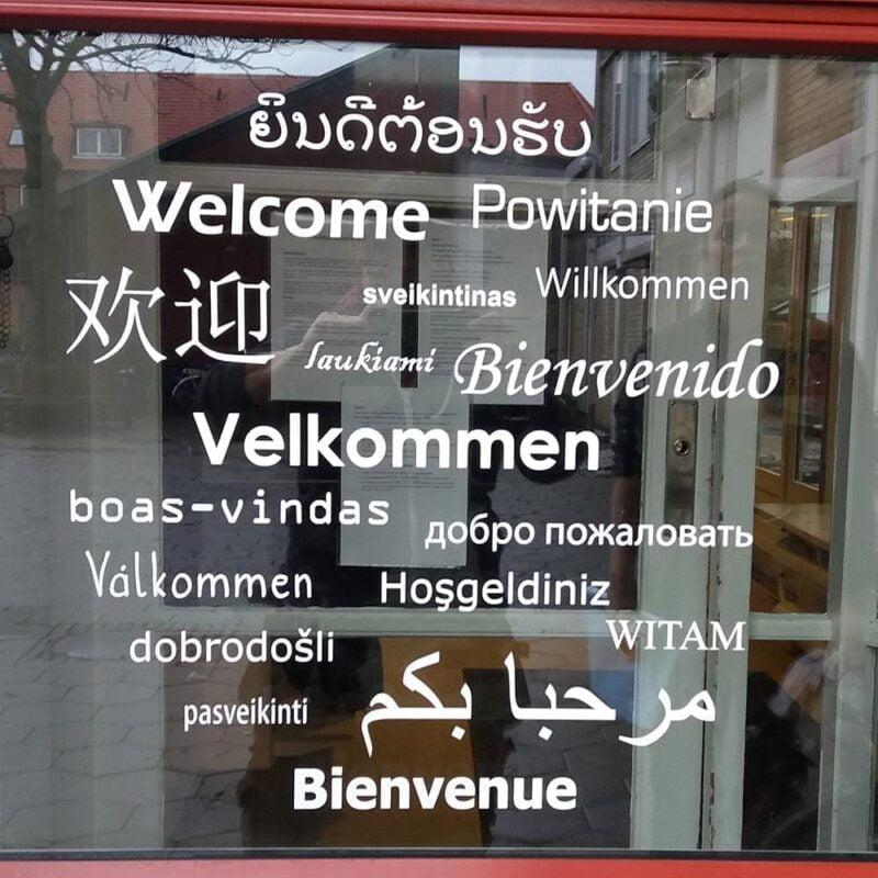 Velkommen - Folie til døre, vægge og vinduer-22455