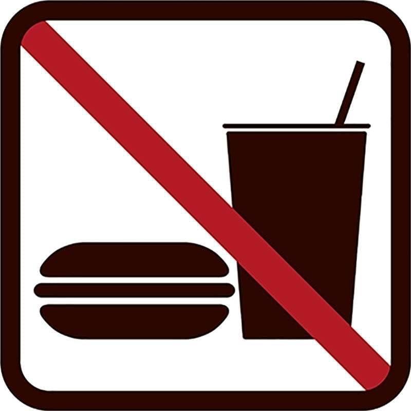 Mad og drikke forbudt - Vinduesfolie, pakke med 5 stk.-0