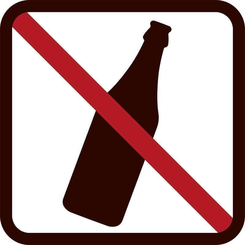 Drikkevarer forbudt - Vinduesfolie, pakke med 5 stk.-0