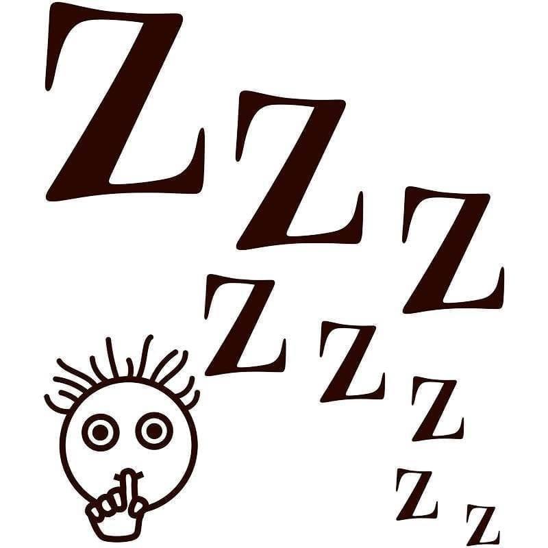 Stille - Vi sover - Folie til dør/væg/vindue-0