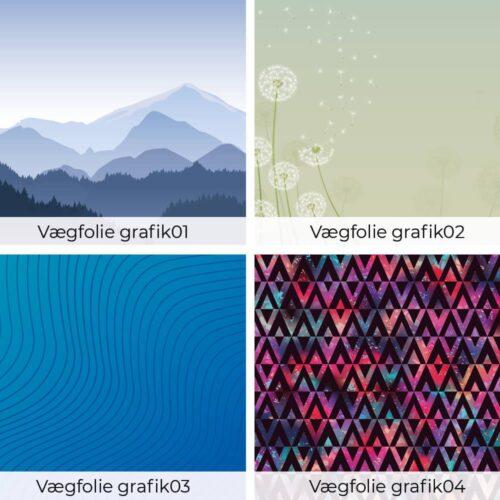 Vægfolie - Grafisk motiv-0
