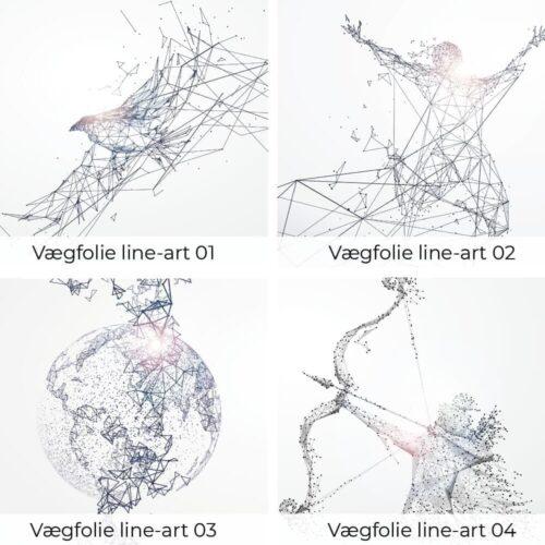 Vægfolie - Line-art-0