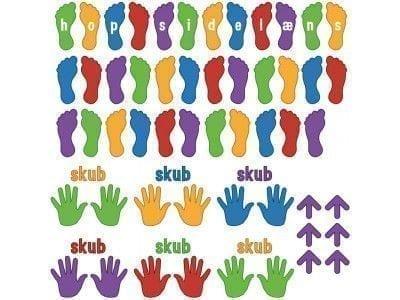 Hænder og fødder - Gulvfolie/vægfolie-0