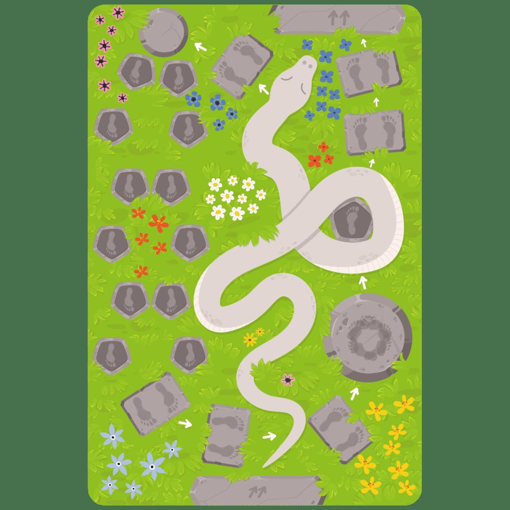 Gulvfolie med slangebane giver en god måde at øve motorikken hos daginstitutionens børn og kombinerer aktiv leg og læring.