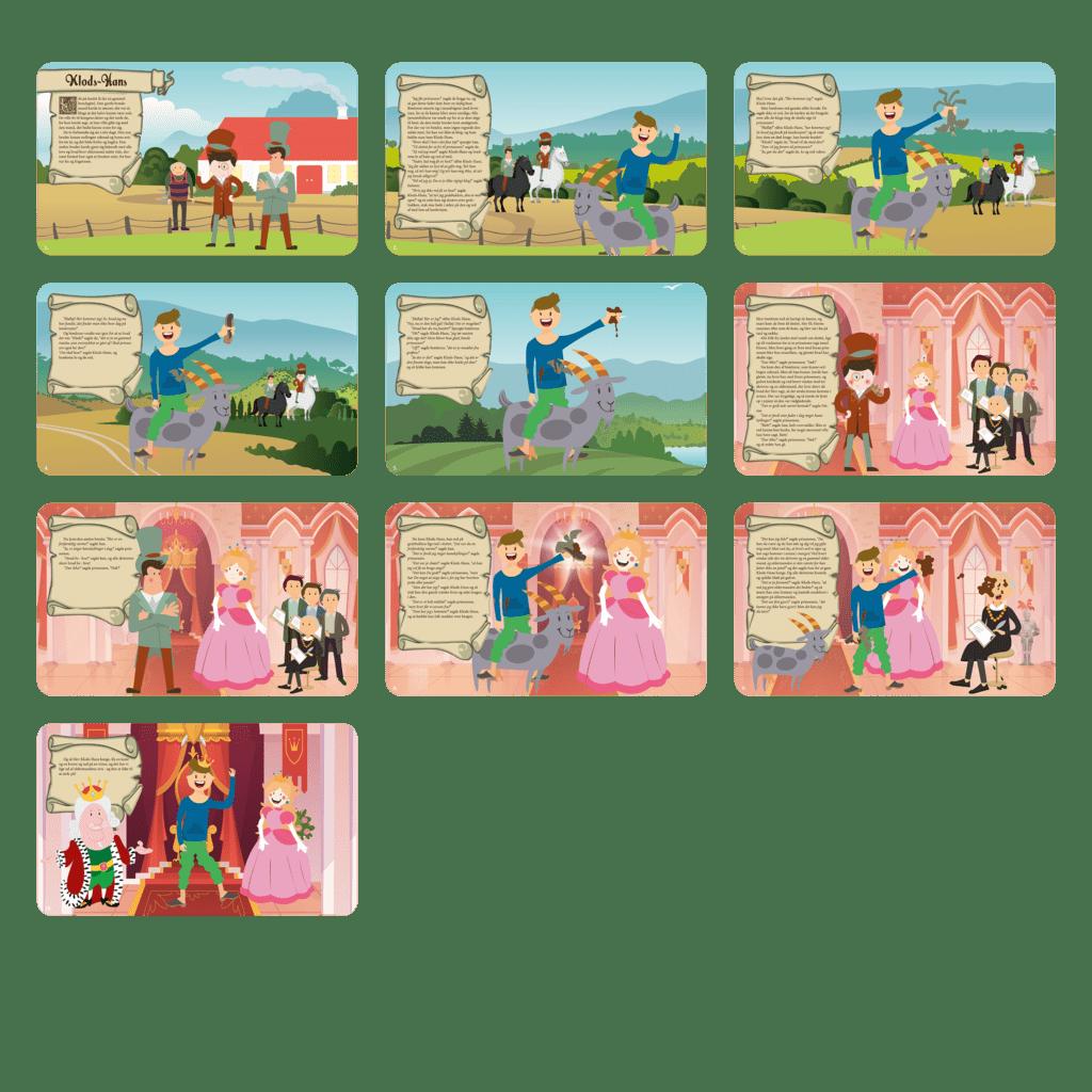 Fortæl børnene i daginstitutionen om eventyret, Klods Hans, på en sjov og alternativ måde med dette sæt gulvfolie á 10 stk.