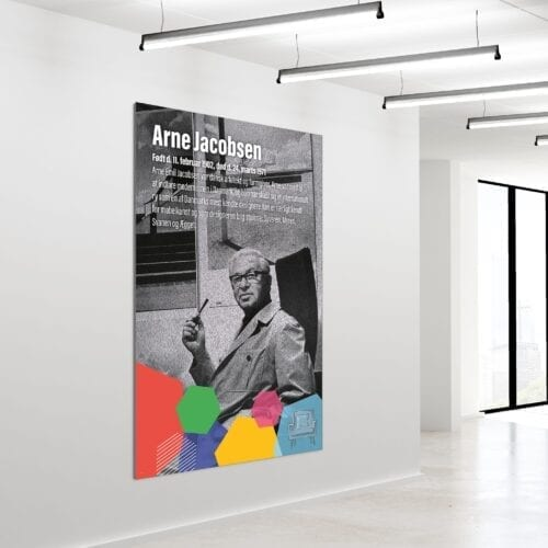 Akustikbillede Arne Jakobsen 180x120cm