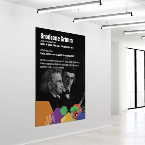 Akustikbillede Broedrene Grimm 180x120cm