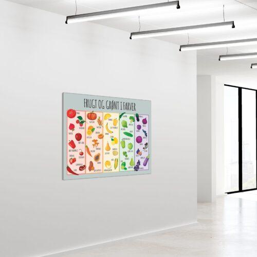 Akustikbillede Frugt og groent i farver 90x120cm
