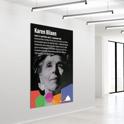 Akustikbillede Karen Blixen 180x120cm