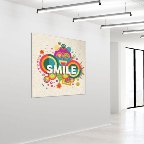 Akustikbillede Smile 120x120cm